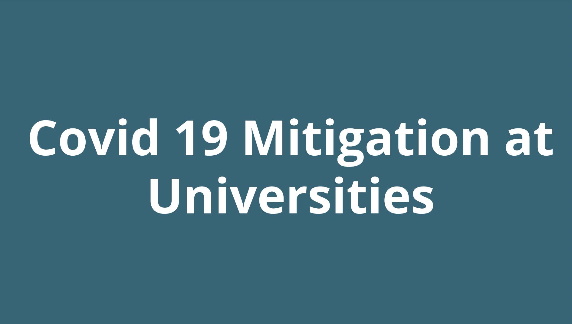 Covid 19 Mitigation at Universities WeHealth Laura Atukunda